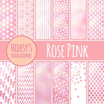 Rose Pink Backgrounds / Digital Papers / Patterns Clip Art