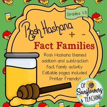 Rosh Hashana Addition & Subtraction Fact Families