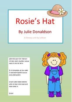 Rosie's Hat by Julia Donaldson literacy unit circle compre