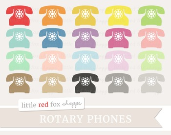 Rotary Phone Clipart; Telephone