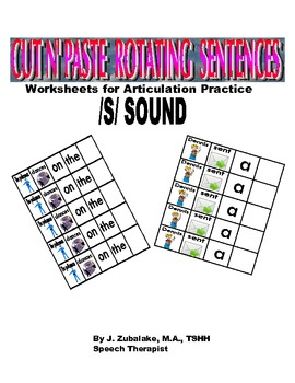 Rotating /S/ Sentence Cut & Paste Worksheets for Articulat