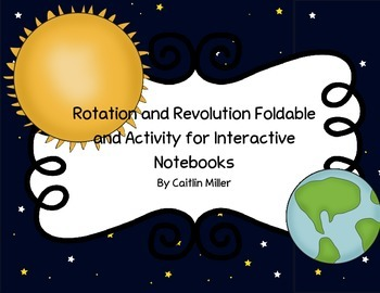 Rotation and Revolution Foldable and Activity for Interact