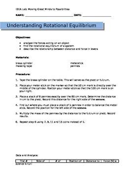 Rotational Equilibrium Worksheet