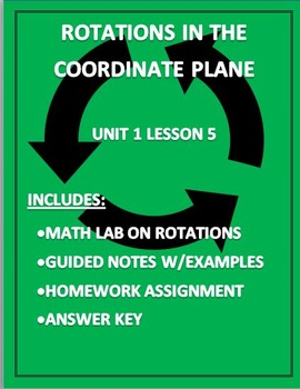 Rotations in the Coordinate Plane Editable Word Document