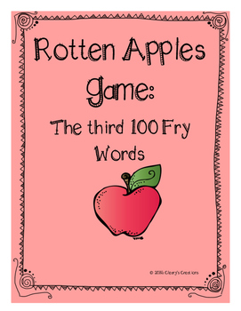 Rotten Apples - Third 100 Fry Words