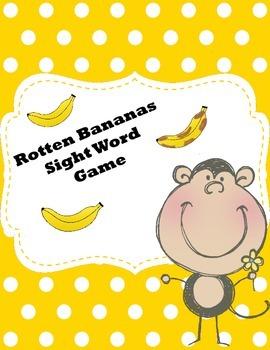 Rotten Bananas Sight Word Game