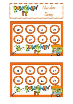 Roughin' It Number 20 – 40 Bingo