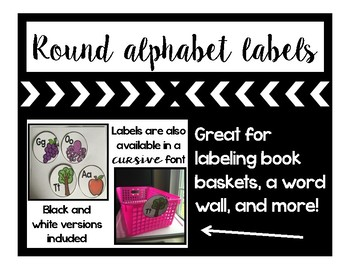 Alphabet Labels (black and white versions)