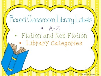 Round Colorful Classroom Library Labels