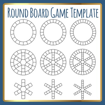 Round Cycles Board Game Template (Like Trivial Pursuit) Cl