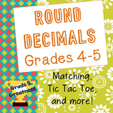 Round Decimals Activities for Fourth and Fifth Grade