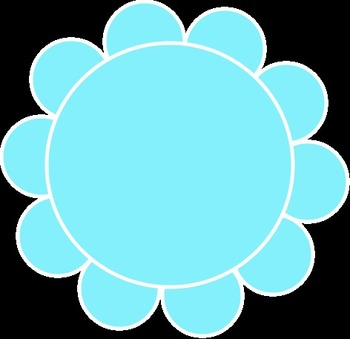 Round Flower Frames in many colors