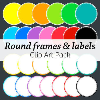 Round Frames & Labels – Commercial – Many colors!
