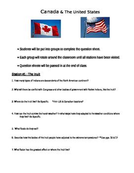 Round Robin Activity: Canada & United States/Alaska Geogra