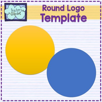 Round logo template {includes a visual tutorial to learn t