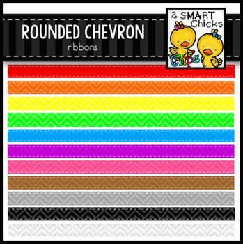 Rounded Chevron Ribbons