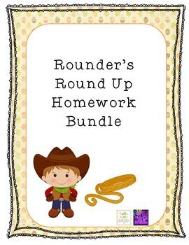 Rounder's Round Up Homework Bundle {3.NBT.A.1} {CCSS 2.1.3.B.1}