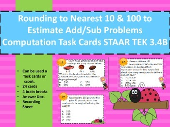 Rounding/Estimate Addition/Subtraction Problems Comp Task
