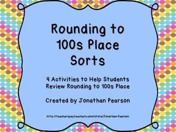 Rounding 100s Sorts - Hands-on Activities to Practice Rounding