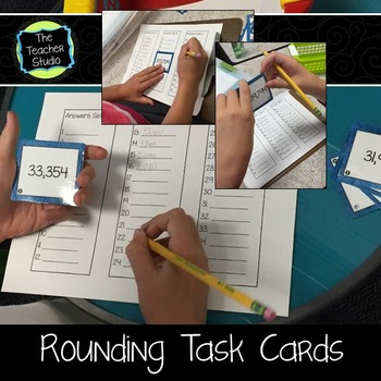Rounding Task Cards Grades 3-5