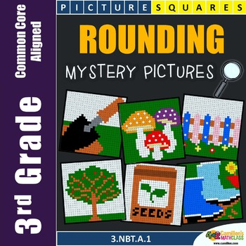 Rounding To the Nearest 10 and 100 Coloring Worksheets {3.