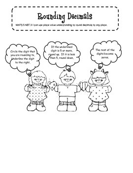 Rounding Decimals for Student Notebooks