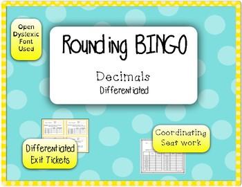 Rounding Decimals BINGO set 2