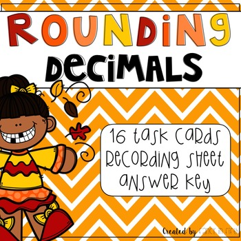 Rounding Decimals Fall Themed Task Cards