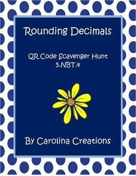 Rounding Decimals QR Code Scavenger Hunt - Fifth Grade Com