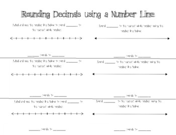 Rounding Decimals using a Number Line