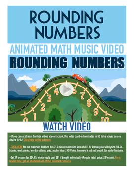 Rounding Numbers | FREE Math Poster, Worksheet, & Fun Vide