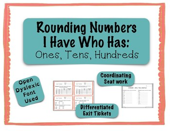 Rounding I Have Who Has - Ones, Tens, Hundreds