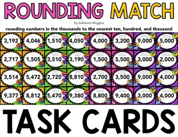 Rounding Match Task Cards
