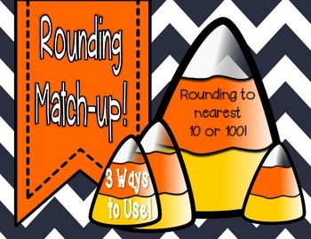 Rounding Match-Up (FALL Theme) Printables
