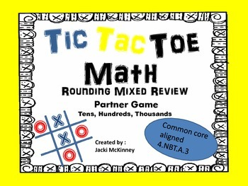 Rounding Mixed Review Tic Tac Toe Game