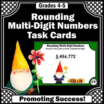 Rounding Multi-Digit Numbers Task Cards 4th Grade Common C
