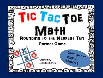 Rounding Nearest Ten Tic Tac Toe Game