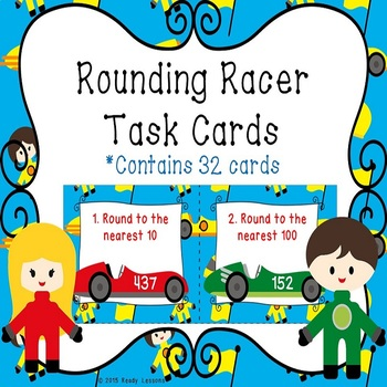 Rounding Numbers Task Cards - Rounding to the nearest 10 a