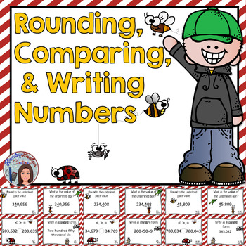 Rounding Numbers Scoot For Grades 3-4-5