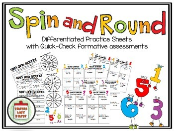 Rounding Numbers: Spin and Round Differentiated Practice A