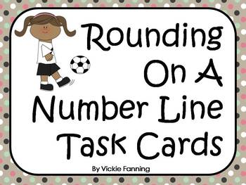 Rounding On A Number Line Task Card