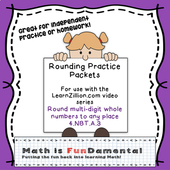 Rounding Practice Packet - For Use with LearnZillion video