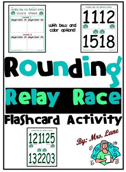 Rounding Relay Race Flashcard Activity
