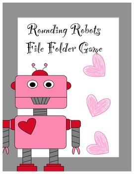 Rounding Robot's File Folder Valentine's Day Game ~ FREE!