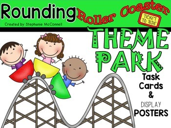 Rounding Roller Coaster- Task Cards and Posters