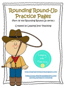 Rounding Round-Up Open-Ended Practice Pages