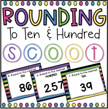 Rounding SCOOT! Game, Task Cards or Assessment