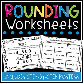 Rounding - Step by Step Classroom Posters and Differentiat