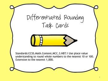 Rounding Task Cards(FREEBIE)