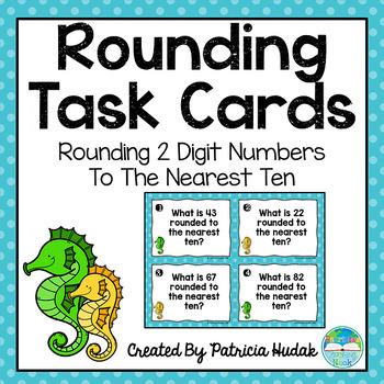 Rounding Task Cards: 2 Digit Numbers